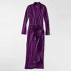 Lands' End - Petite purple women's cotton sleep-t dressing gown