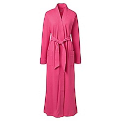 Lands' End - Pink petite cotton sleep-t dressing gown