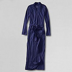 Lands' End - Petite dark purple cotton sleep-t dressing gown