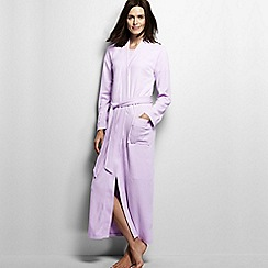 Lands' End - Petite lilac cotton sleep-t dressing gown