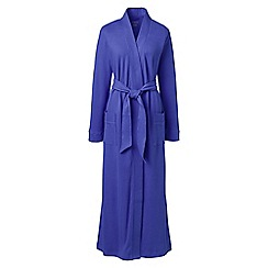 Lands' End - Blue petite cotton sleep-t dressing gown