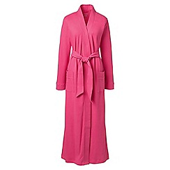 Lands' End - Pink plus cotton sleep-t dressing gown