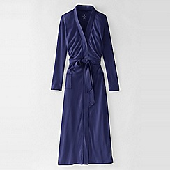 Lands' End - Purple women's cotton sleep-t dressing gown