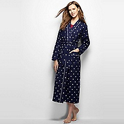 Lands' End - Blue women's patterned flannel dressing gown
