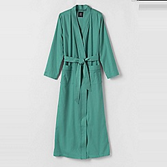 Lands' End - Green petite flannel dressing gown