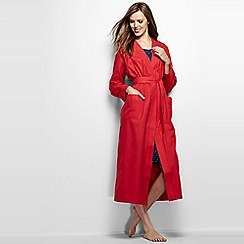 Lands' End - Red plus flannel dressing gown