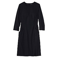 Lands' End - Black women's 3-quarter sleeve woven dress