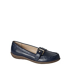 Lands' End - Blue women's casual leather loafers