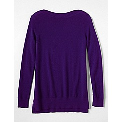 Lands' End - Purple women's boatneck cashmere tunic