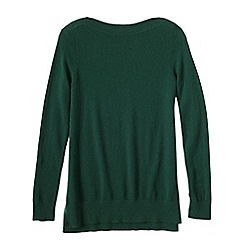 Lands' End - Green boatneck cashmere tunic
