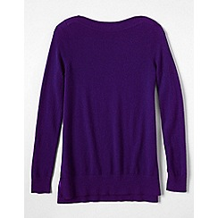 Lands' End - Purple petite boatneck cashmere tunic
