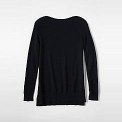 Lands' End - Black plus boatneck cashmere tunic