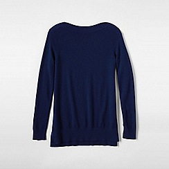 Lands' End - Blue women's boatneck cashmere tunic
