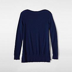 Lands' End - Blue plus boatneck cashmere tunic