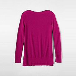 Lands' End - Pink women's plus boatneck cashmere tunic