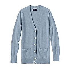 Lands' End - Blue petite classic cashmere v-neck cardigan