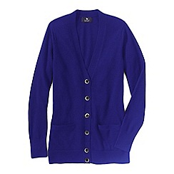 Lands' End - Purple women's classic cashmere v-neck cardigan