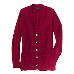 Lands' End - Pink women's classic cashmere v-neck cardigan