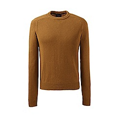 Lands' End - Brown drifter cotton sweater