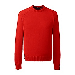Lands' End - Orange drifter cotton sweater