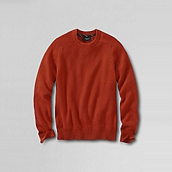 Lands' End - Orange men's drifter cotton sweater