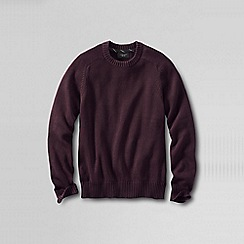 Lands' End - Red men's drifter cotton sweater