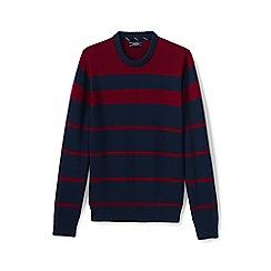 Lands' End - Blue striped drifter cotton sweater