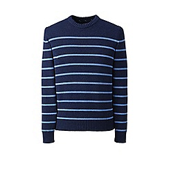 Lands' End - Blue striped drifter cotton sweater