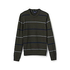 Lands' End - Green striped drifter cotton sweater