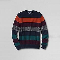 Lands' End - Grey men's striped drifter cotton sweater