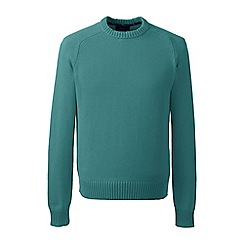 Lands' End - Blue tall  drifter cotton sweater
