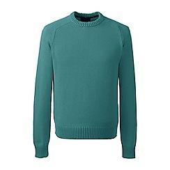 Lands' End - Blue tall  drifter cotton sweater