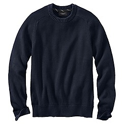 Lands' End - Blue men's drifter cotton sweater