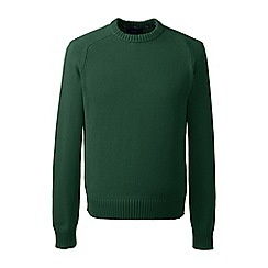 Lands' End - Green tall  drifter cotton sweater