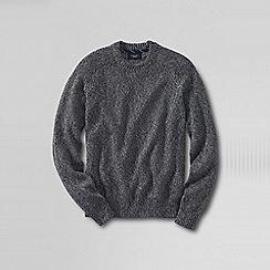 Lands' End - Black men's marled drifter cotton sweater