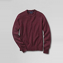 Lands' End - Red men's marled drifter cotton sweater