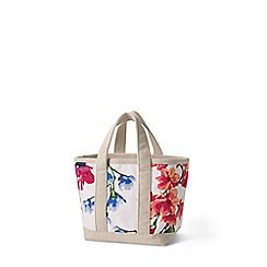 Lands' End - Cream small open top print canvas tote