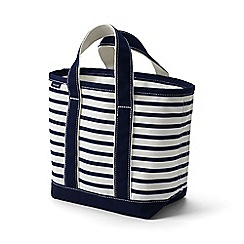Lands' End - Blue small open top print canvas tote