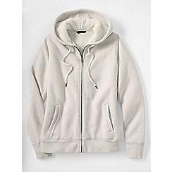 Lands' End - Cream women's fleece zip hoodie