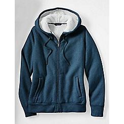Lands' End - Blue fleece zip hoodie