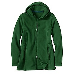 Lands' End - Green women's polartec 200 fleece parka