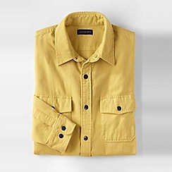 Lands' End - Yellow men's chamois shirt