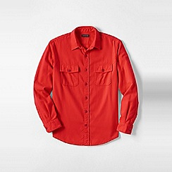 Lands' End - Orange men's chamois shirt