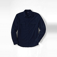 Lands' End - Blue men's chamois shirt