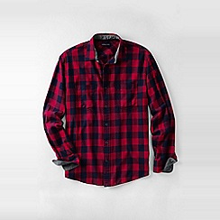 Lands' End - Red men's forewind twill shirt