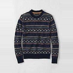 Lands' End - Blue men's fair isle shaker sweater