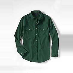 Lands' End - Green men's cord shirt