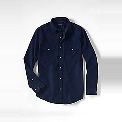 Lands' End - Blue men's cord shirt