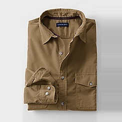 Lands' End - Beige men's cord shirt