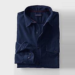 Lands' End - Blue men's cord shirt